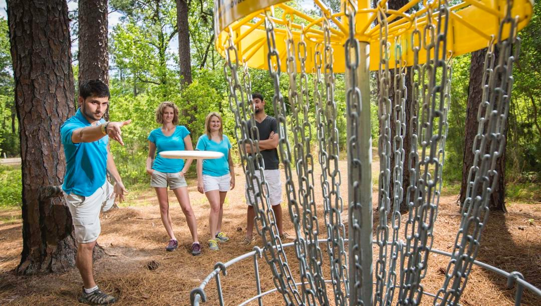 Fun at the Bob Rodgers Memorial Disc Golf Course