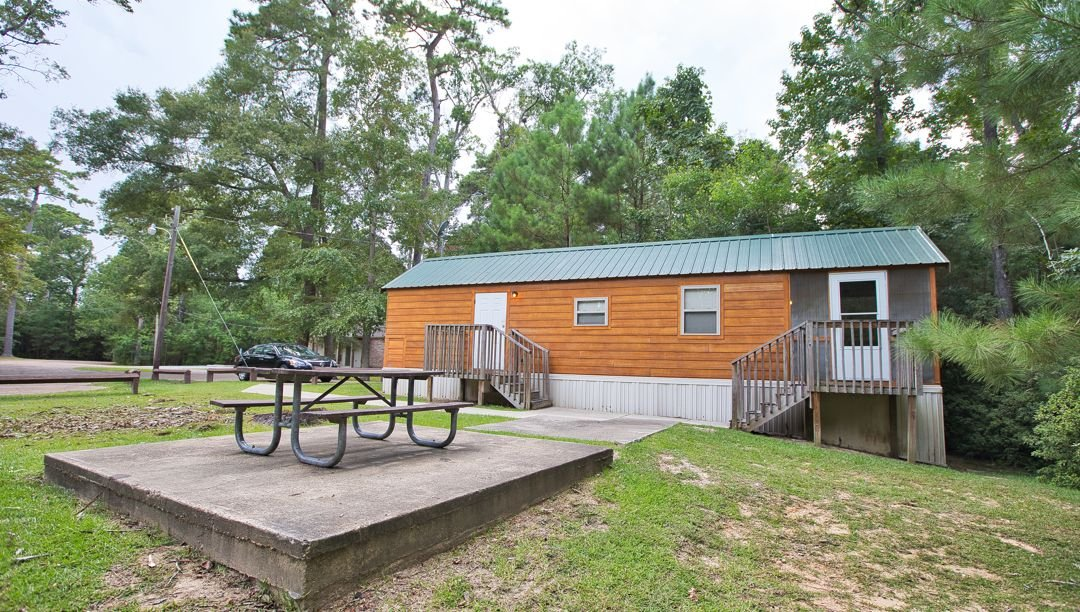 Standard cabin at Sam Houston Jones State Park