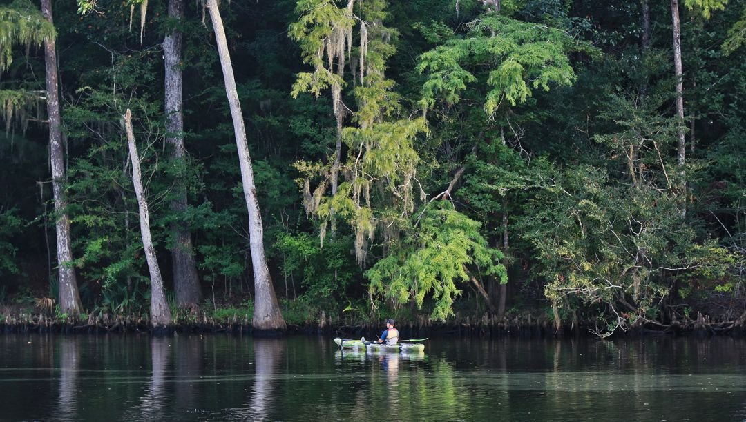 Boating on the west fork of the Calcasieu River