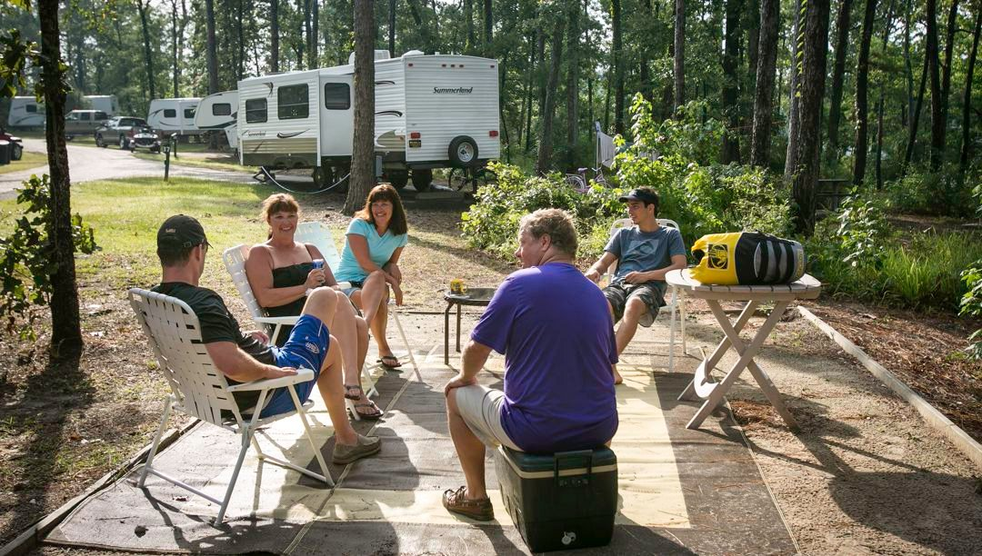 Camping at South Toledo Bend SP