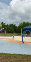 Summer splash fun at the water playground