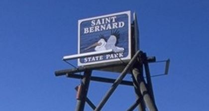 Saint Bernard State Park sign