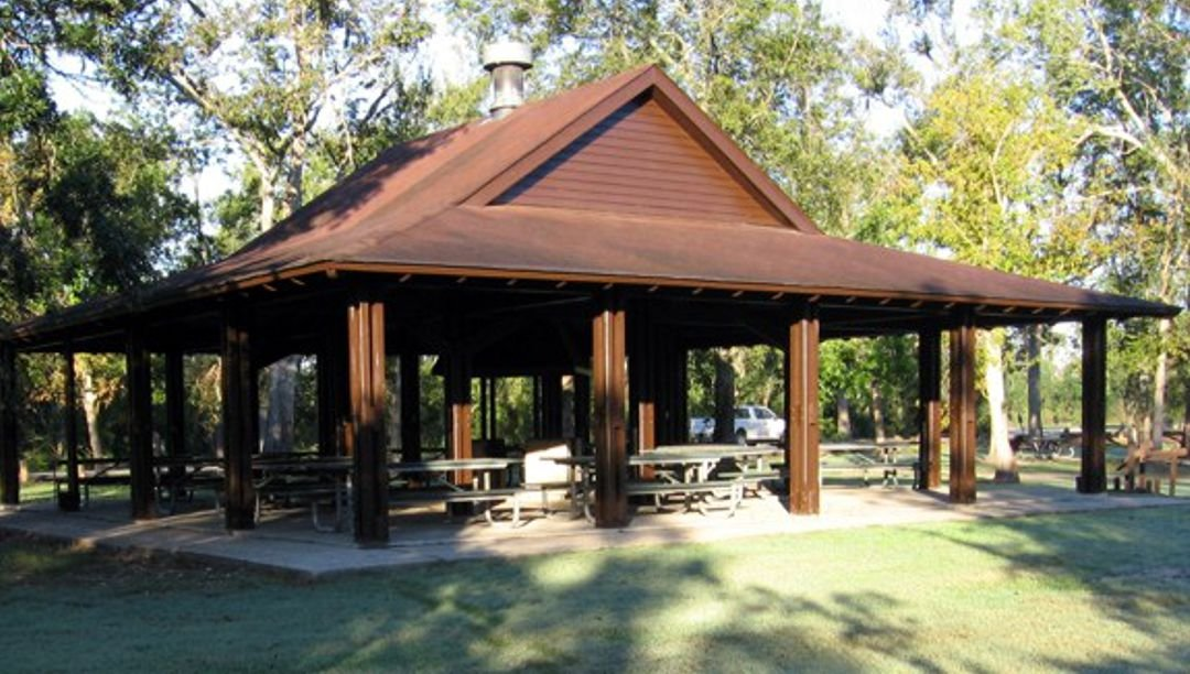 The large pavilion accommodates family gatherings