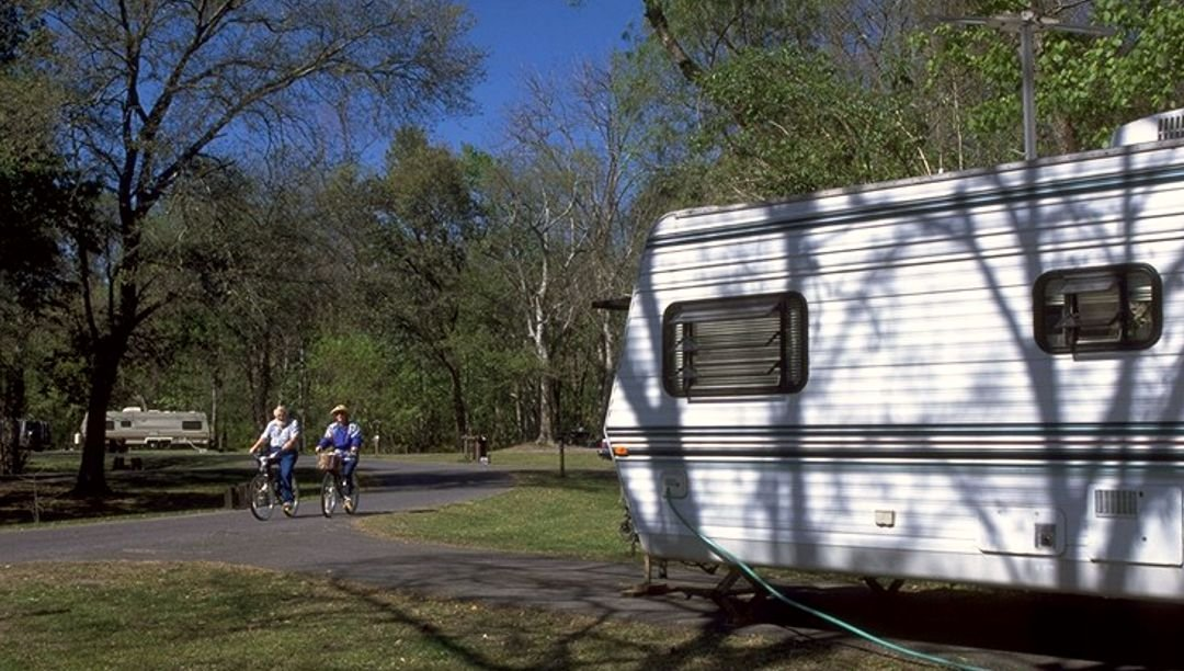 Campsites offer water and electric hookups