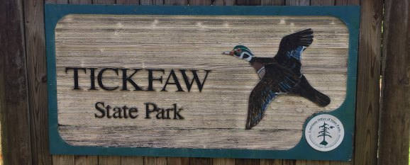 Tickfaw State Park sign