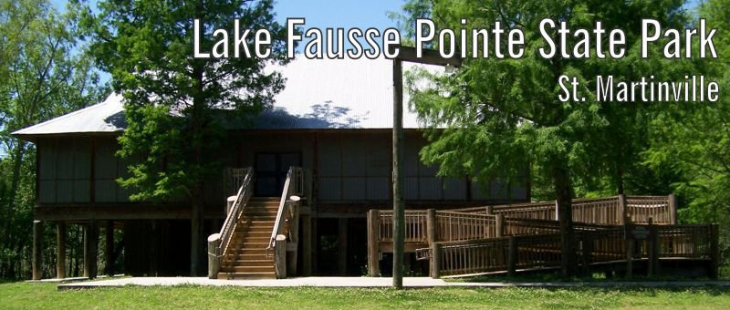 Exterior image of Lake Fausse Pointe's 125-person capacity meeting room