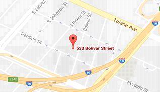 Site of LSU-HSC Downtown Campus, 533 Bolivar Street, Google Maps 2017