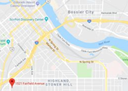 Site of Shreveport State Office Building, 1521 Fairfield Avenue, Google Maps 2018