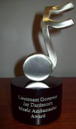 Lt. Governor Jay Dardenne's Music Ambassador Award