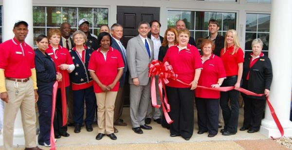 Kentwood Welcome Center Grand Reopening ribbon-cutting ceremony