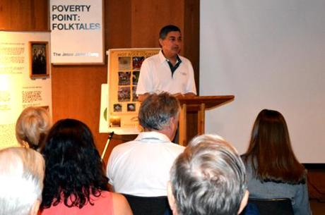 Lt. Governor Jay Dardenne addresses stakeholders at Poverty Point State Historic Site on June 20