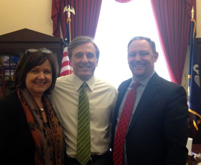Darienne Mobley, Congressman John Fleming and Kyle Edmiston
