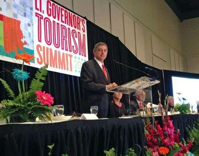 Lt. Governor Jay Dardenne addresses Travel Summit antendees