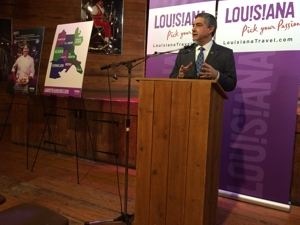 Lt. Governor Jay Dardenne addresses town hall meeting