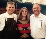 Chef Cory Bahr, Monroe-West Monroe CVB President/CEO Alana Cooper and LOT Assistant Secretary Kyle Edmiston