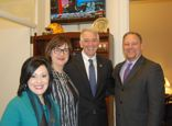 Louisiana travel industry delegates with U.S. Congressman Dr. Ralph Abraham
