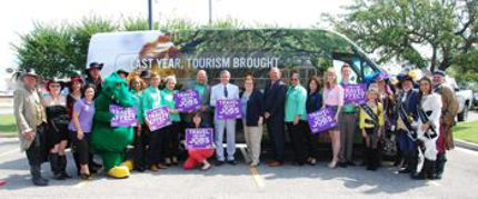 Lt. Gov. Jay Dardenne and LOT Assistant Secretary Kyle Edmiston with Lake Charles tourism delegation.
