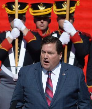 Lt. Governor Billy Nungesser delivering his inaugural address.