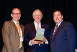 Pictured left to right: LTPA Chairman Phil Frost, Will Mangham Lifetime Achievement Award recipient Bill Langkopp and Lieutenant Governor Billy Nungesser